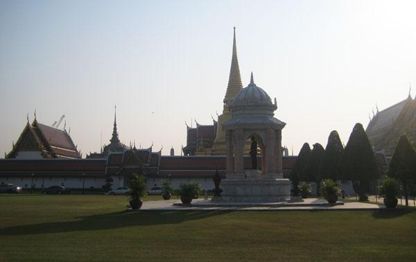 Areál královského paláce v Bangkoku
