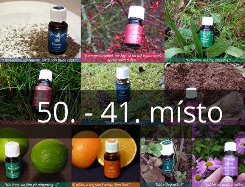 Žebříček mých 50 nejoblíbenějších esenciálních olejů: 50. až 41. místo